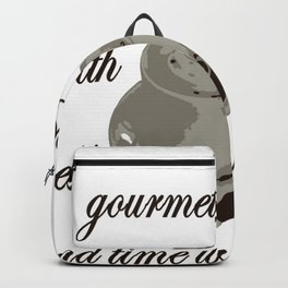 A Cup Of Gourmet Coffee Shared With A Friend Backpack