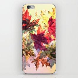 fallen leaves III iPhone Skin