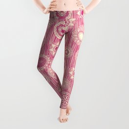 mandala cirque spot pink cream Leggings