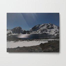 Buddhist Mountain Lakes of Langtang Metal Print