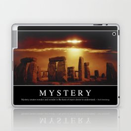 Mystery: Inspirational Quote and Motivational Poster Laptop & iPad Skin