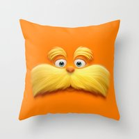 daenerys Throw Pillows featuring THE LORAX by Inara