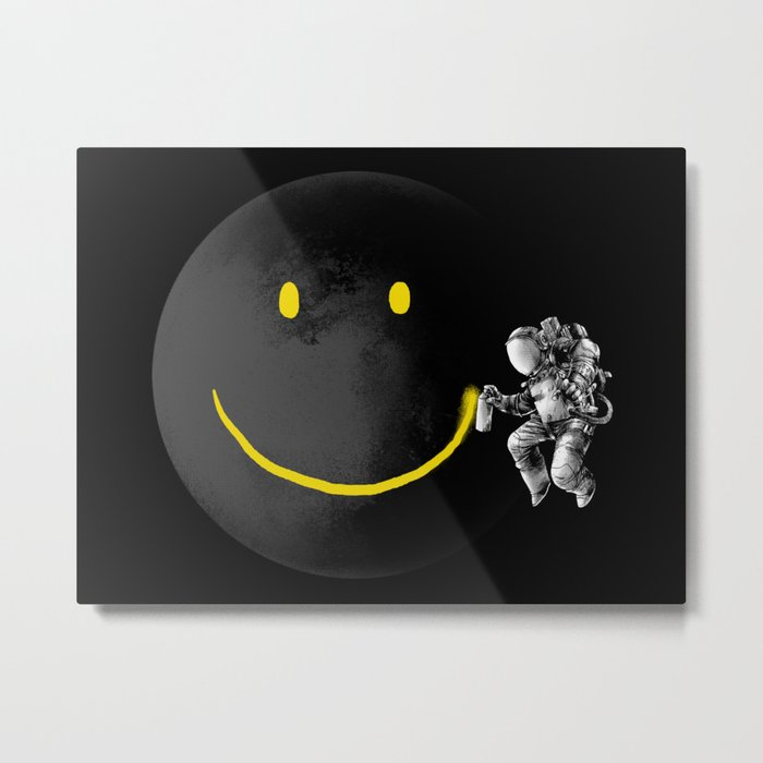 Make a Smile Metal Print