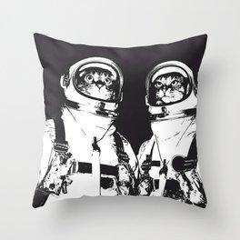 astronaut cats Throw Pillow