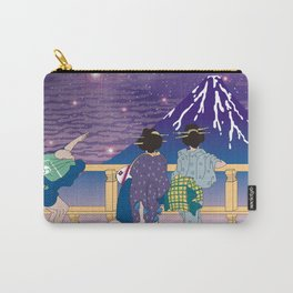 Hokusai People Seeing Mt. Fuji under the Stars Carry-All Pouch