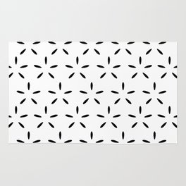 Black and White Pillow Pattern Rug