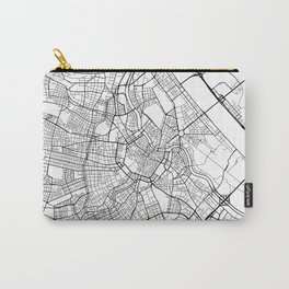 Vienna Map, Austria - Black and White  Carry-All Pouch