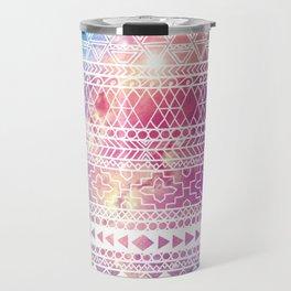 Galaxy & Tribal Print Travel Mug