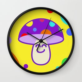 Shroomie - The friendly Magic Mushroom Wall Clock