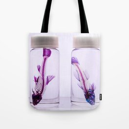 Fluorescent Fishbones Tote Bag