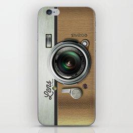 Lens SW200 - Wood Camera iPhone Skin