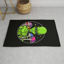 Alien Psychedelic Psilocybin Magic Mushrooms Rug