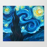 starry night Canvas Prints featuring Starry Starry Night by Jade Cohen