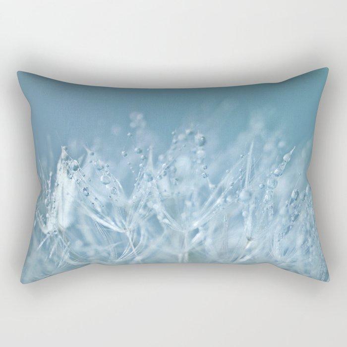 Blue Drops Rectangular Pillow
