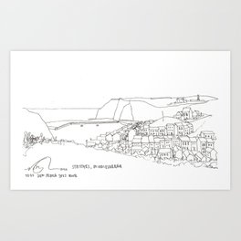 Staithes, Middlesbrough  Art Print