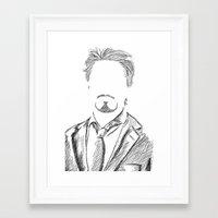 tony stark Framed Art Prints featuring Tony Stark by  Steve Wade ( Swade)