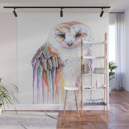 Colorful Owl Wall Mural
