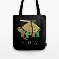 power Tote Bags featuring ninja by Louis Roskosch