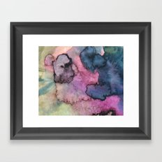 Ink Clouds Framed Art Print