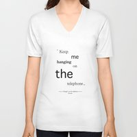 telephone V-neck T-shirts featuring Telephone by PintoQuiff