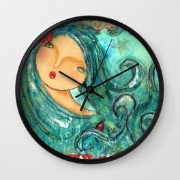 Isabella The Sea Mermaid Wall Clock