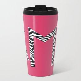 Zyanya in Pink Metal Travel Mug
