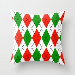 Chistmas Argyle 8 Throw Pillow