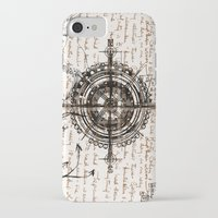 compass iPhone & iPod Cases featuring Compass by Obdine