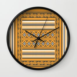 Maldivian Traditional Mat Wall Clock