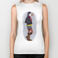 puffin Biker Tanks featuring Puffin by Dyna Moe