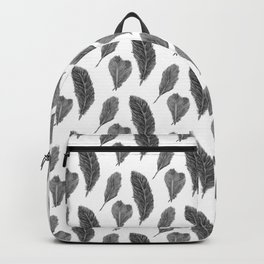 Feather Collection - black and white Backpack