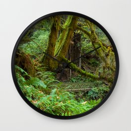 Autumn Greens Wall Clock