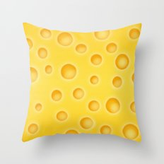 Swiss Cheese Texture Pattern Throw Pillow