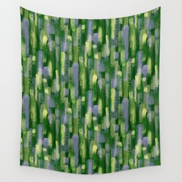 Brushstrokes in Green Wall Tapestry