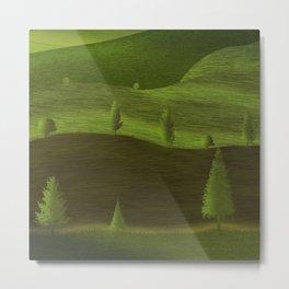 Green fields in spring Metal Print