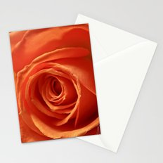 Tangerine Rose Stationery Cards