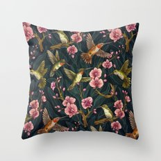 Hummingbird Pattern Throw Pillow