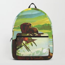 Earth Retro Space Poster Backpack