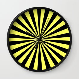 Starburst (Black & Yellow Pattern) Wall Clock