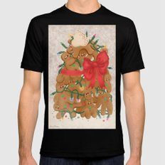 Merry Christmas from Gingerbread Men Black Mens Fitted Tee MEDIUM