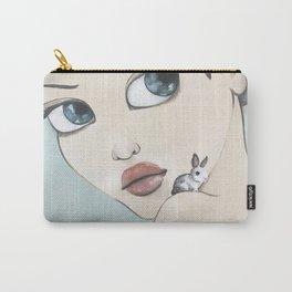 Bunnies Big Eye Art, Pop Surrealism Carry-All Pouch