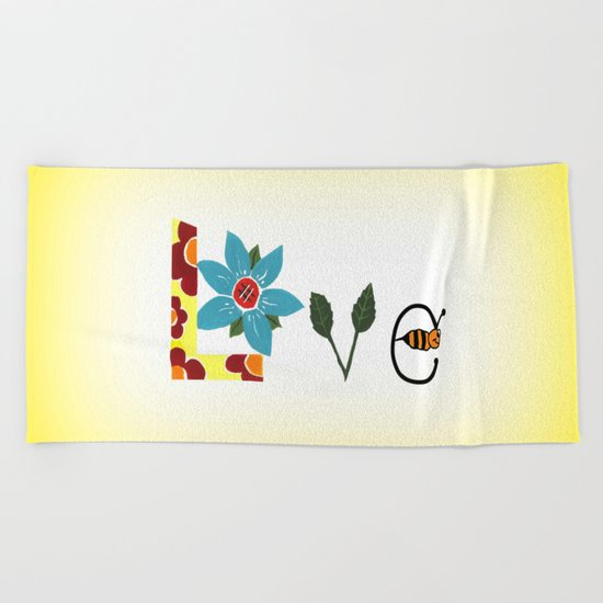 Bee Mine Beach Towel