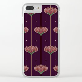 Wallpaper Floral Pattern In Style OF William Morris Clear iPhone Case