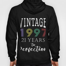 Retro Vintage 1997 years to perfection 21st Birthday Gift Hoody