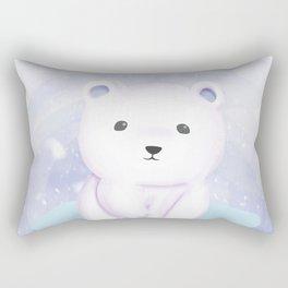 Cute baby polar bear Rectangular Pillow