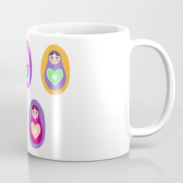 Russian dolls matryoshka, rainbow colors Coffee Mug
