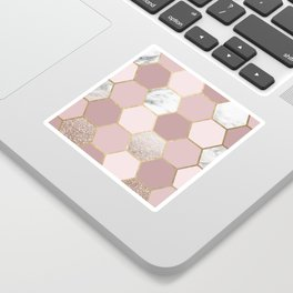 Sensations of the mind rose gold Sticker
