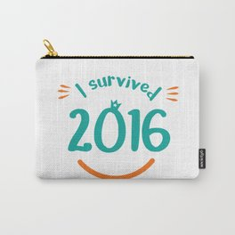 I survived 2016 - minimalist Carry-All Pouch