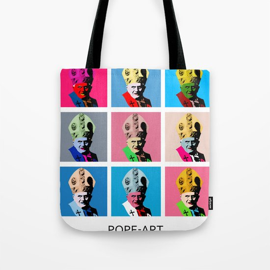 Pope art Tote Bag