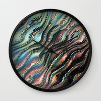 novelty Wall Clocks featuring Turbulence by Moody Muse